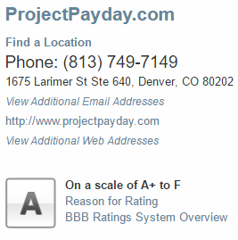 Project Payday Rating