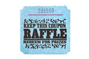 Classic raffle ticket