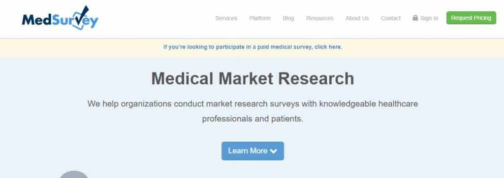 medsurvey homepage preview