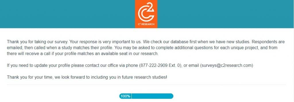 c2research survey call notification