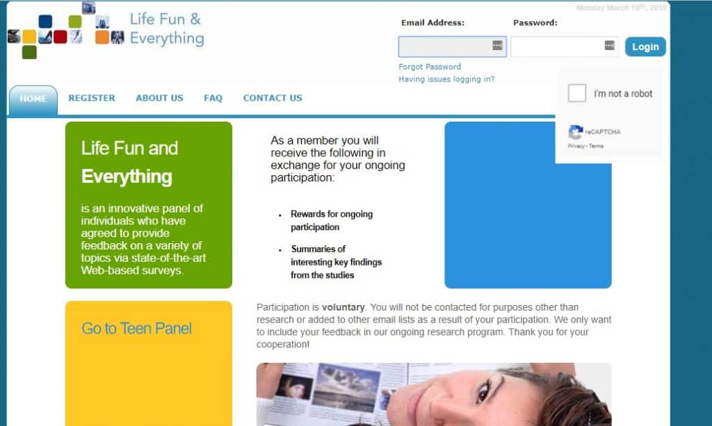 life fun and everything homepage preview