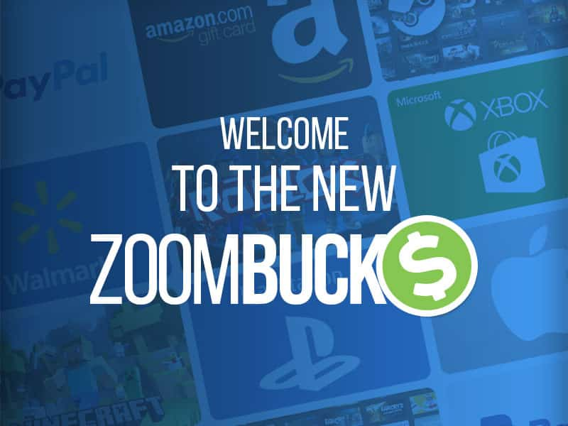 homepage preview of the zoom bucks website