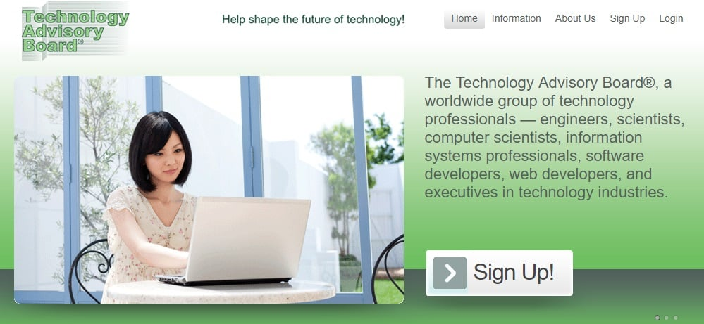 technology advisory board homepage preview