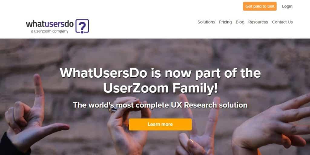 whatusersdo homepage layout