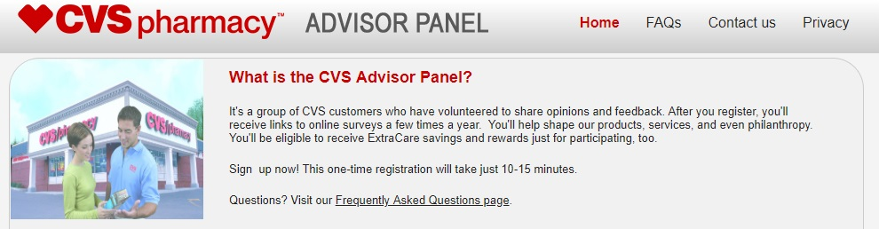 CVS Advisor Panel homepage preview