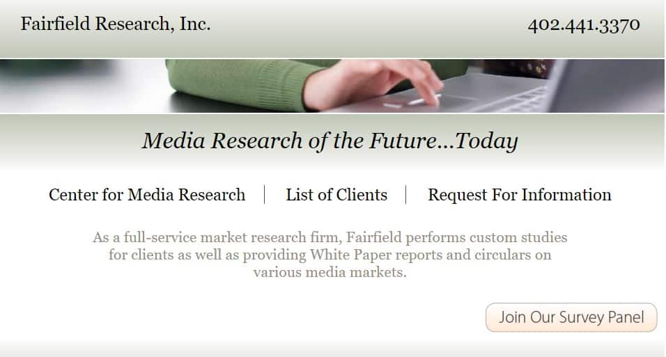 fairfield research homepage preview