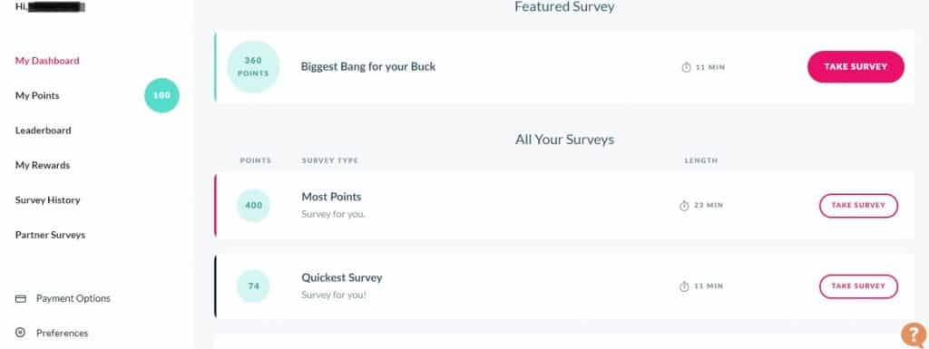 Branded Surveys various offers preview