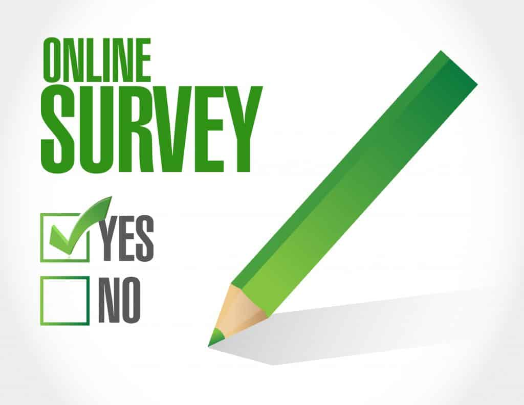 pencil over online survey checkboxes