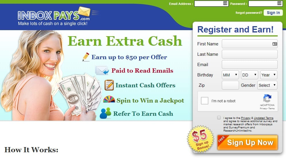 InboxPays homepage preview