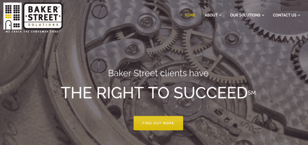 BakerStreet Solutions homepage preview