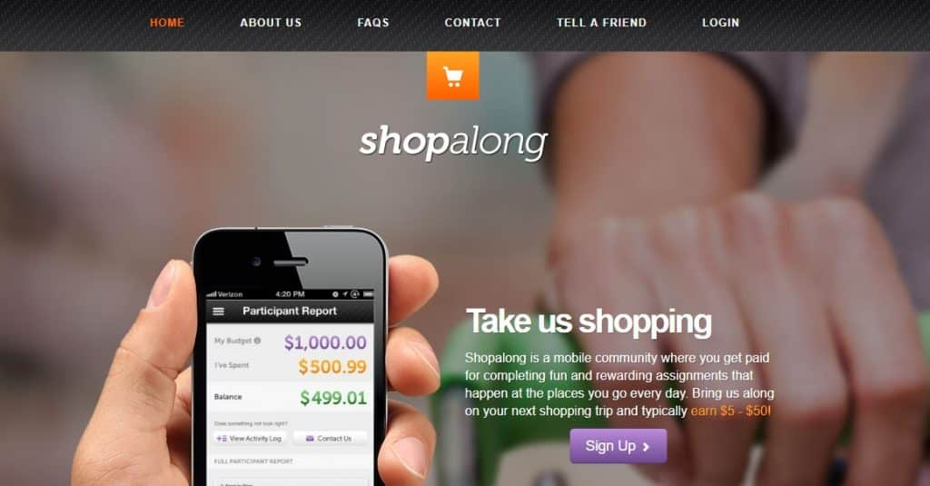 Shopalong homepage preview