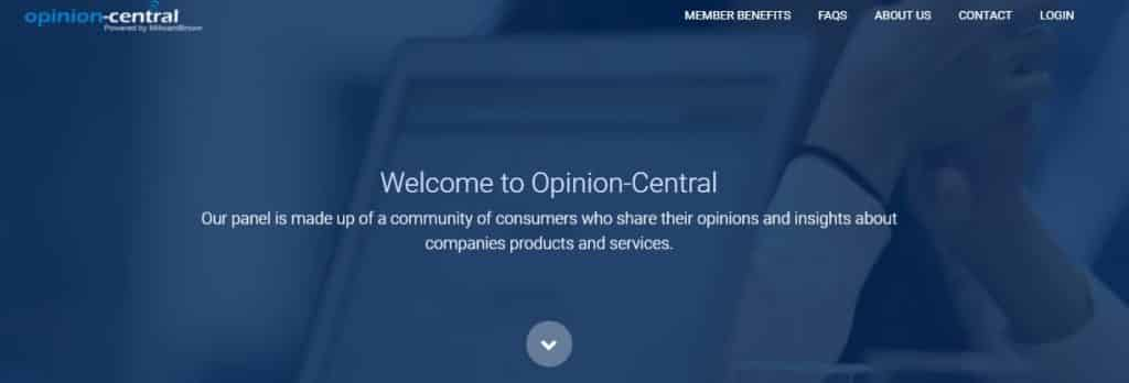 opinion central homepage preview