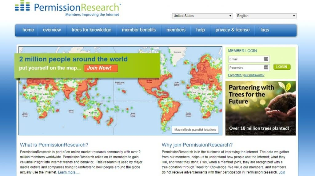 Permission Research homepage preview