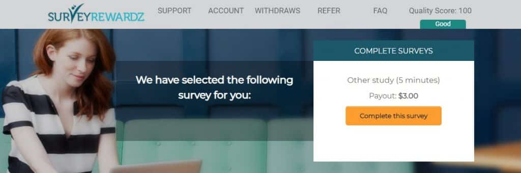 Surveyrewardz survey offer