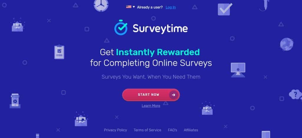 survey time homepage preview
