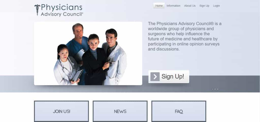 physicians advisory council homepage preview