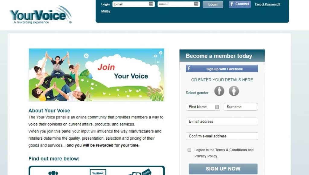 yourvoice homepage preview layout