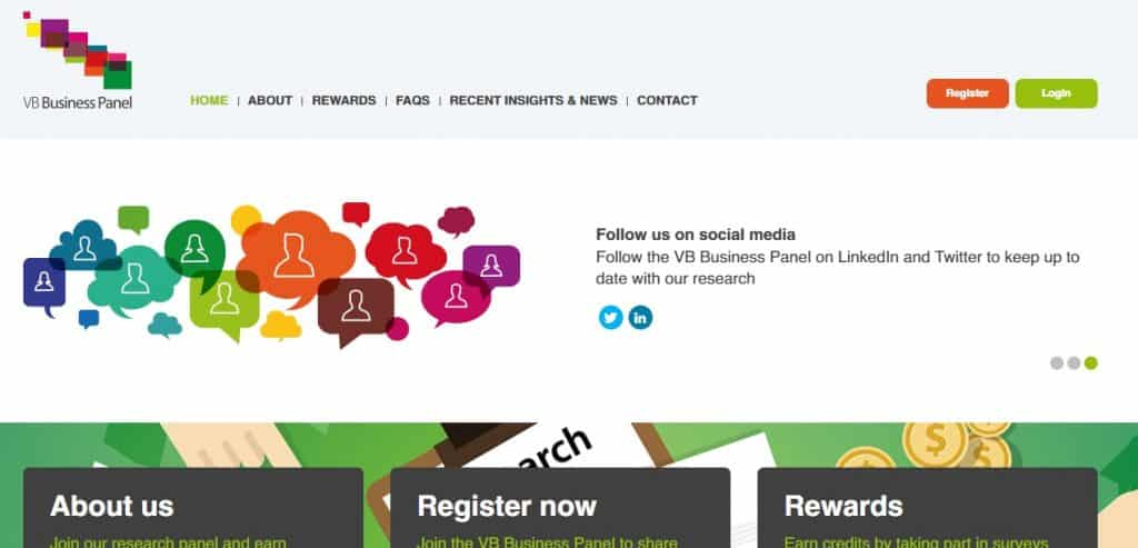 Vanson Bourne Business Panel homepage preview