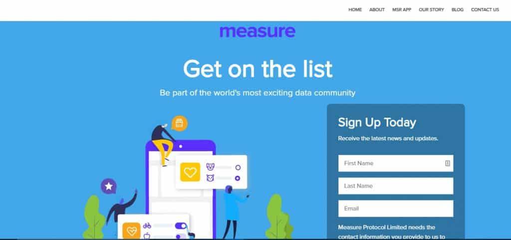 Measure MSR App homepage preview
