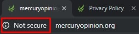 Mercury Opinion ssl error screenshot