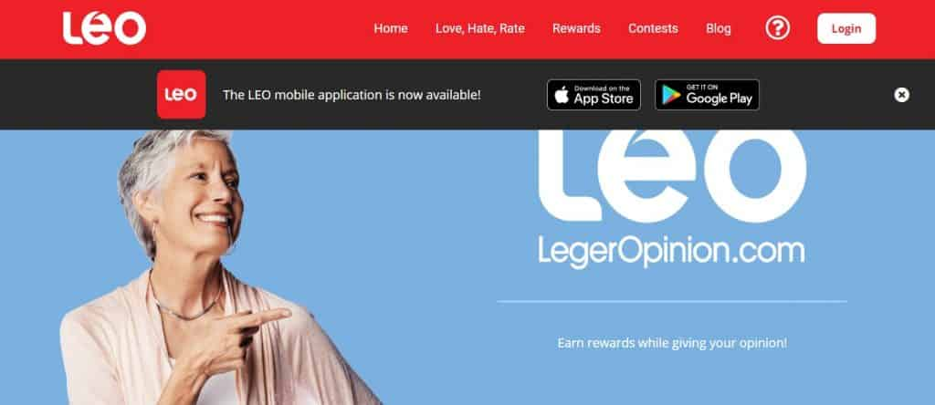 leo homepage preview
