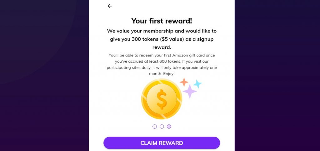 upvoice reward screen