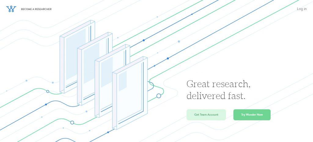 Ask Wonder homepage preview