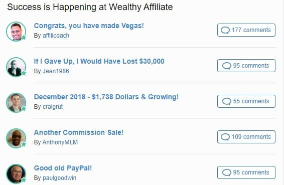 forum preview at wealthy affiliate