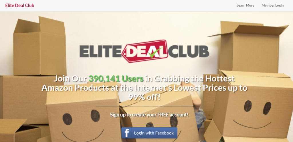 elite deal club homepage preview
