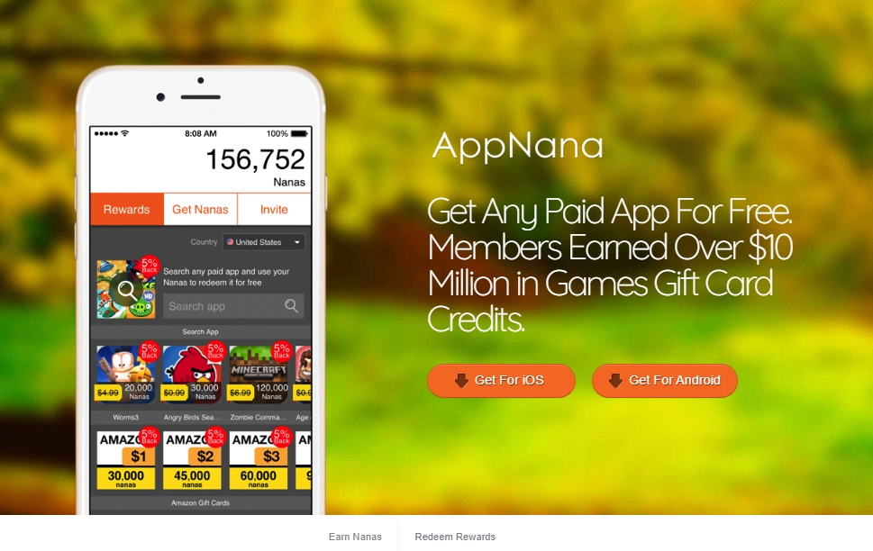 AppNana homepage preview