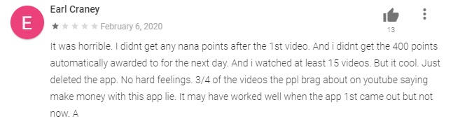 nana bad review 2