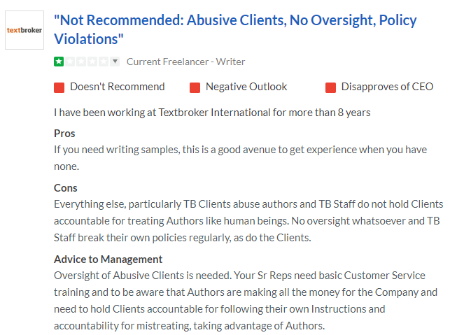 bad clients textbroker review