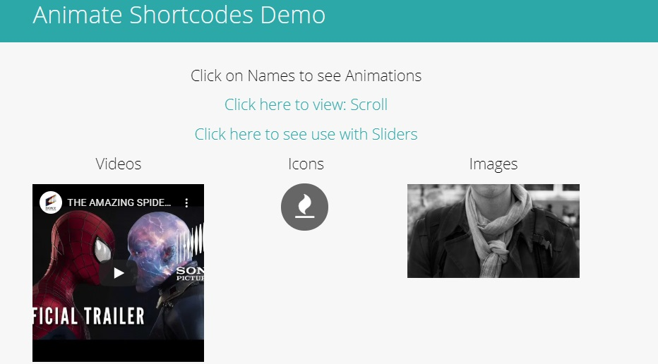 Animate Shortcode WordPress Plugin