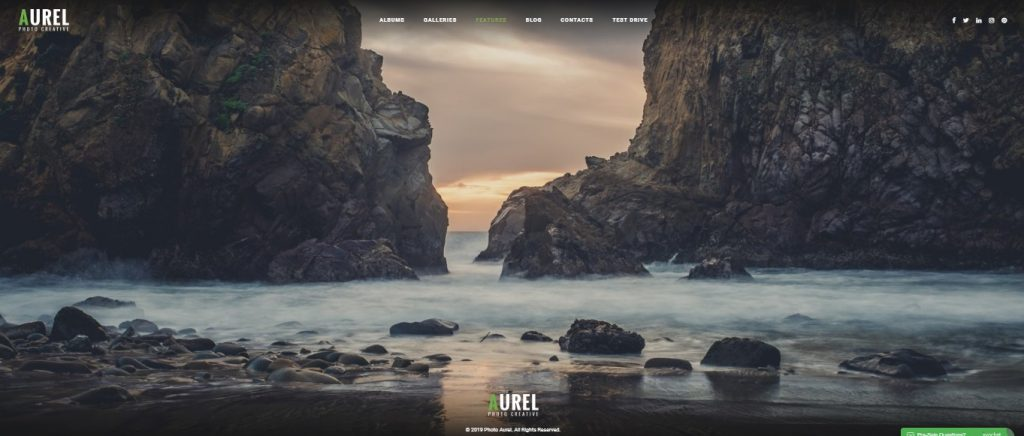 Aurel wordpress theme preview