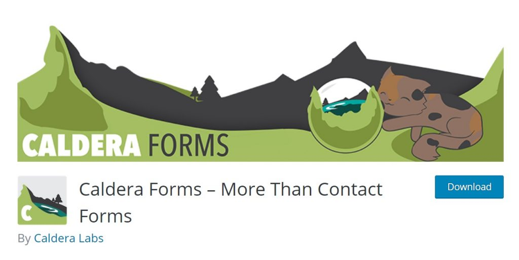 Caldera Form Builder wp download page layout