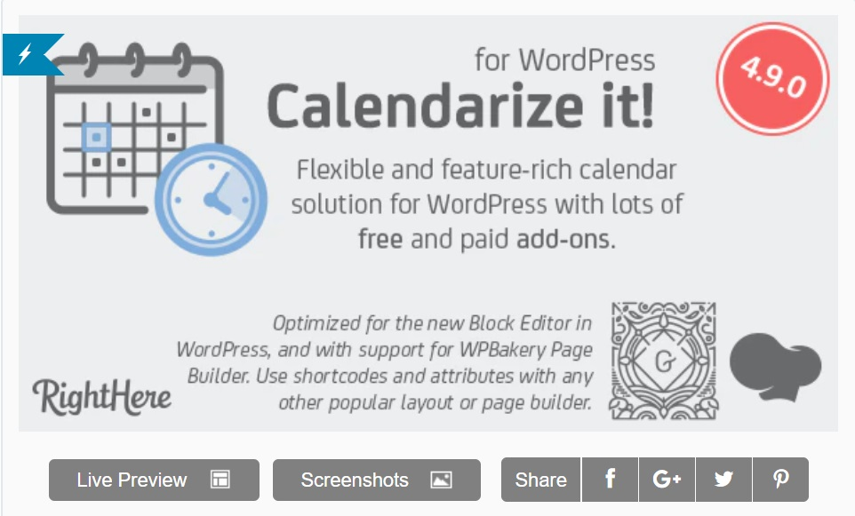 Calendarize It plugin for wordpress