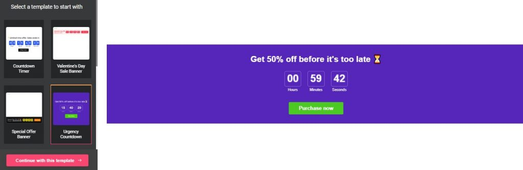 Countdown Timer wp plugin preview