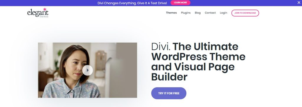 Divi WP theme builder layout