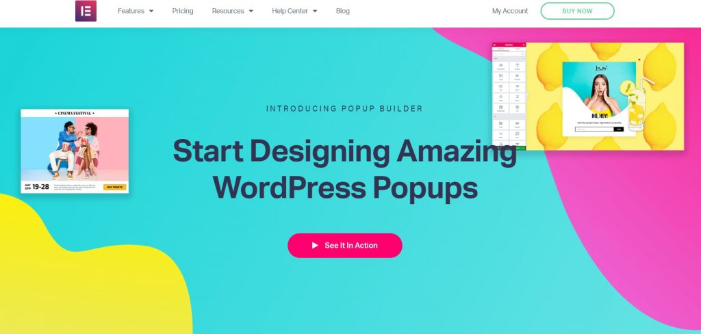 Elementor Pro plugin popup homepage preview