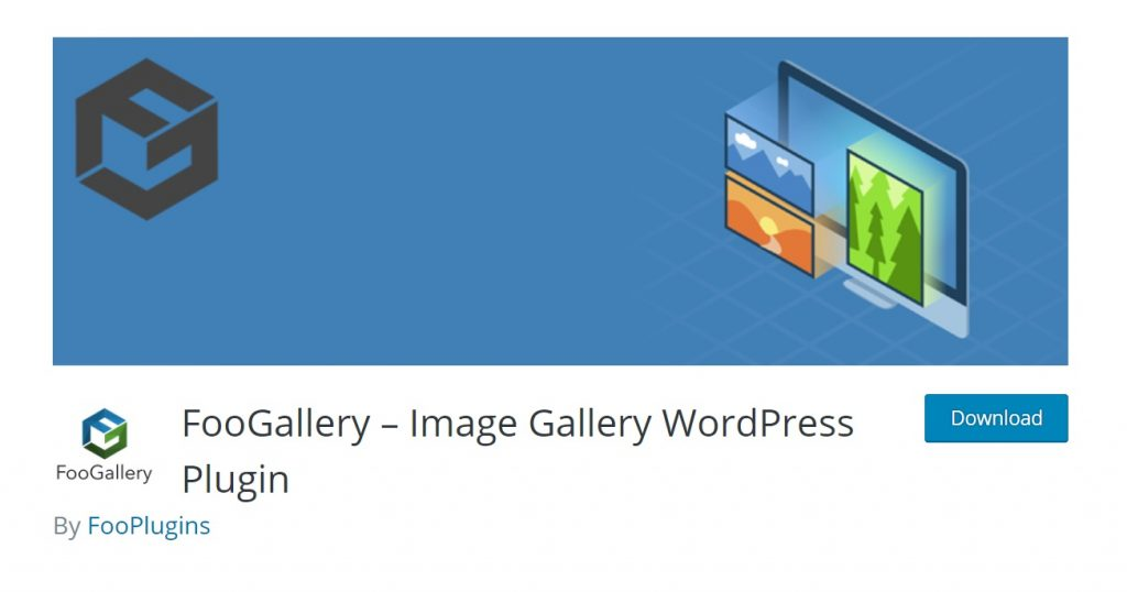 FooGallery wp plugin download page