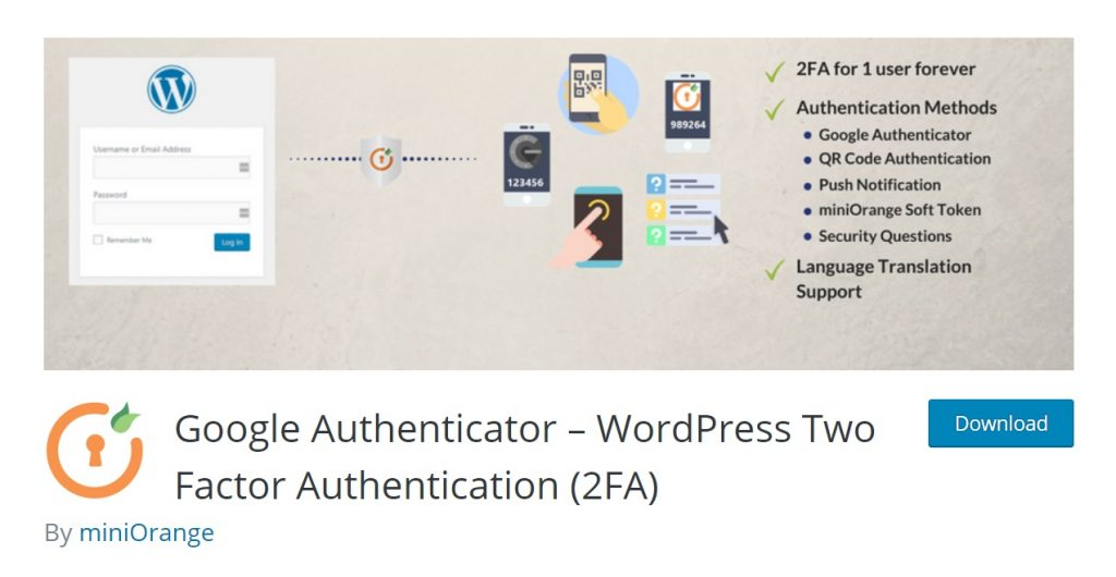 Google Authenticator wp plugin download