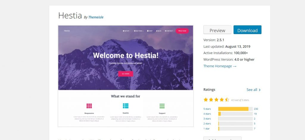 Hestia homepage business review