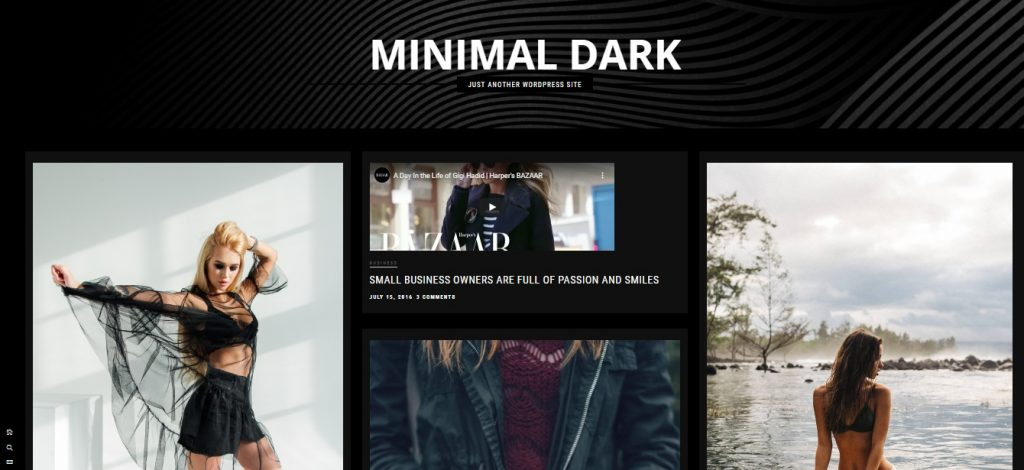 Minimal Dark artist theme for wp