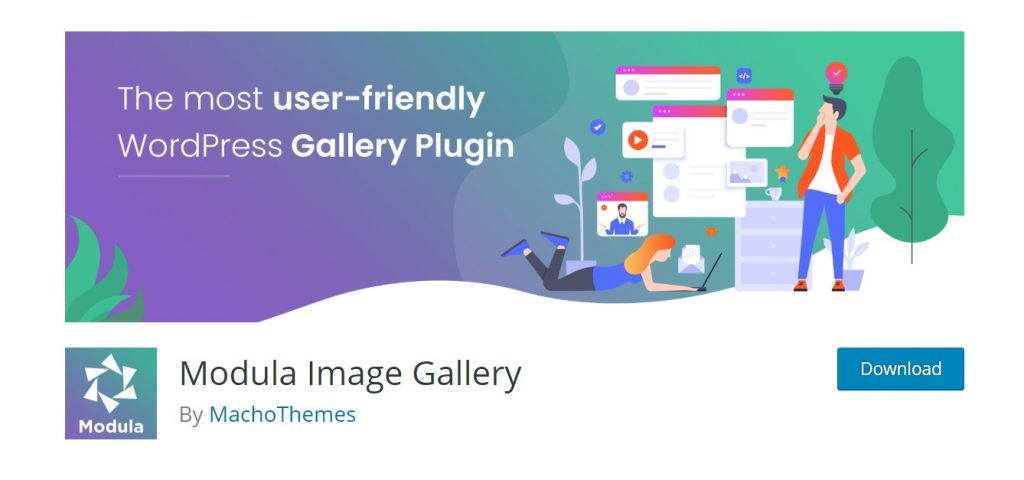 Modula Gallery plugin homepage preview