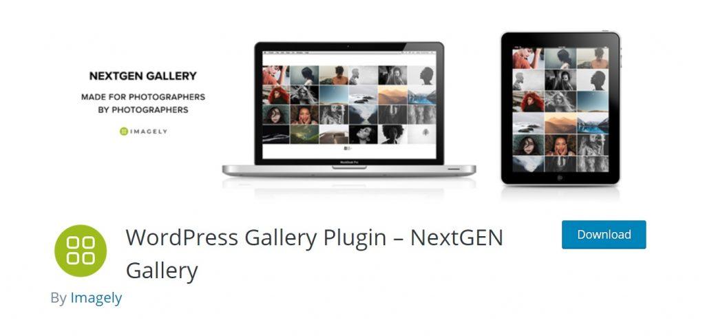 NextGEN gallery wordpress plugin page layout