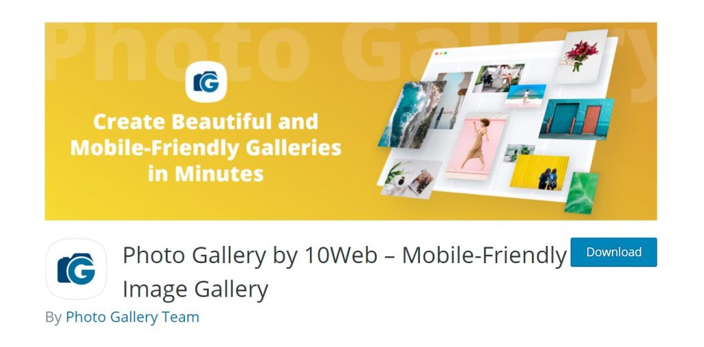 Photo Gallery by 10Web page preview
