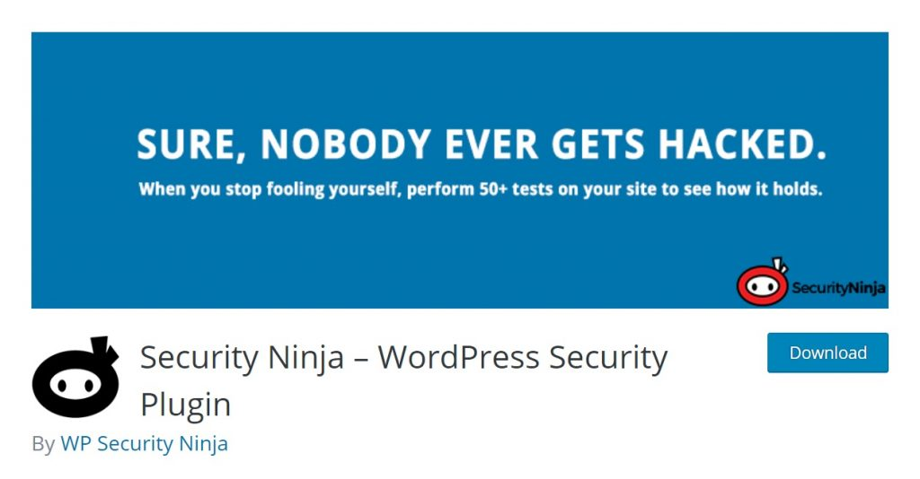 Security Ninja wp plugin download page
