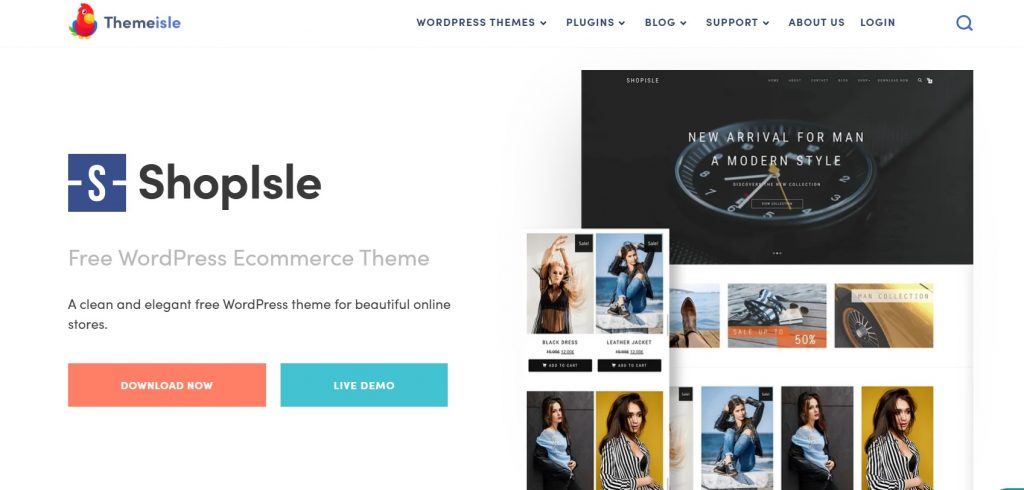 Shopisle homepage layout preview