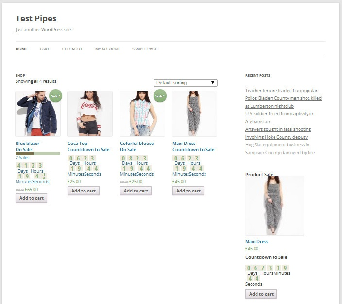 WooCommerce Sales plugin preview