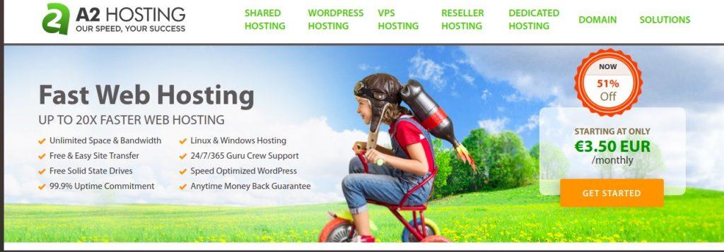 a2hosting website services preview